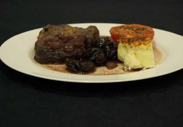 Entrecot de ternera con ciruelas pasas chef3d evolution - Carne con ciruelas pasas ...